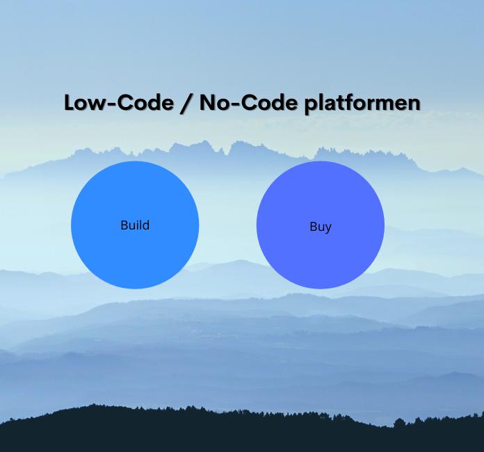 Low-code No-code platformen
